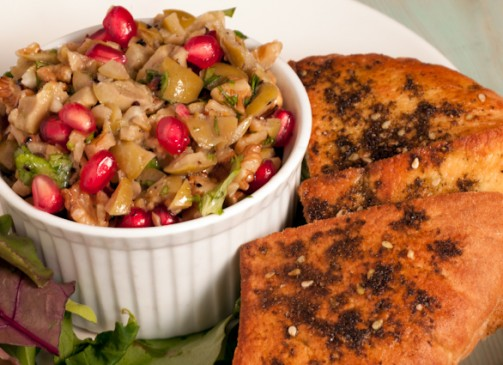 Persian Olive, Walnut and Pomegranate Tapenade