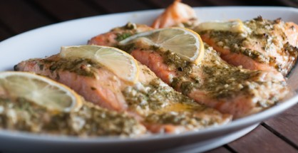 Baked Salmon with Parsley and Dijon Mustard