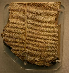 The eleventh tablet of the epic of Gilgamesh, British Museum