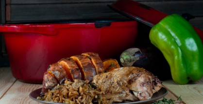 Creole Roasted Chicken and Dirty Rice